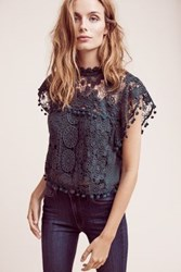 Anthropologie Cropped Guerie Shell Green