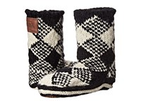 Woolrich Chalet Ankle Sock Black White Plaid Women's Slippers