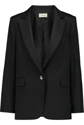 Temperley London Tuva Woven Wool Blend Blazer Black