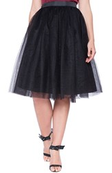 Plus Size Women's Eloquii Tulle Midi Skirt Black