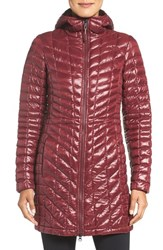 The North Face Women's 'Thermoball Tm ' Primaloft Hooded Parka Deep Garnet Red