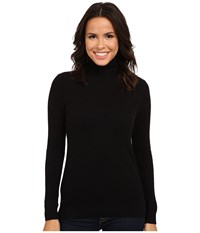 Pendleton Turtleneck Black Women's Long Sleeve Pullover