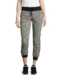 Marc Ny Performance Contrast Panel Drawstring Jogger Pants Black Combo