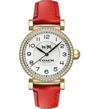 Coach 14502400 Madison Gold Plated Stainless Steel And Leather Watch