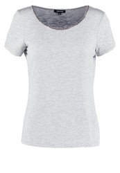More And More Print Tshirt Grey Melange Silver