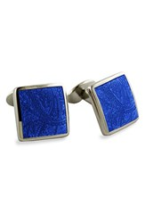 Men's David Donahue Sterling Silver Cuff Links Silver Royal