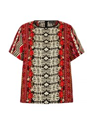 Mela Loves London Aztec Print Shell Top Multi Coloured