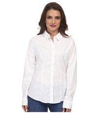 Dockers Petite The Tailored Stretch Shirt Paper White Women's Long Sleeve Button Up