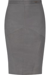 Just Cavalli Leather Skirt Gray