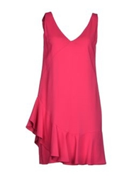 Space Style Concept Short Dresses Fuchsia