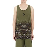Marcelo Burlon County Of Milan Men's Camouflage Banes Tank Dark Green