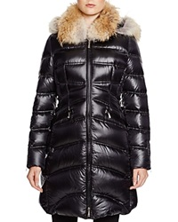 Dawn Levy Cloe Ii Coyote Fur Trim Down Coat Black