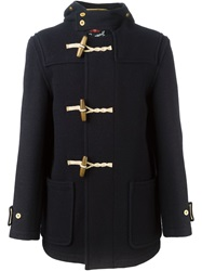 Gloverall 'Mid Monty' Duffle Coat Blue