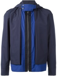 La Perla 'Leisure Escape' Hooded Jacket Blue