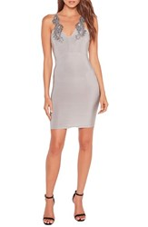 Missguided Women's Metallic Applique Body Con Dress