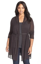 Plus Size Women's Nic Zoe Belted Trench Cardigan