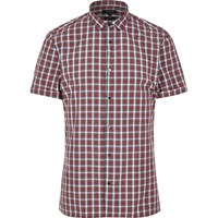 River Island Mens Red Check Short Sleeve Slim Fit Shirt
