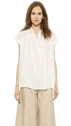 Nili Lotan Short Sleeve Normandy Blouse White