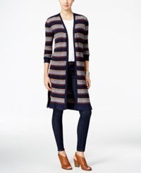 Styleandco. Style Co. Ribbed Duster Cardigan Only At Macy's Industrial Blue Combo