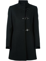 Fay Single Breasted Coat Black