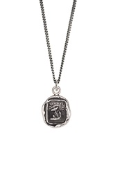 Pyrrha 'Peace Of Mind' Talisman Pendant Necklace Silver