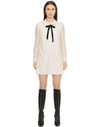 Philosophy Di Lorenzo Serafini Cotton Lace Dress With Ruffled Collar