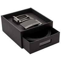 Boss Logo Boss Golias Reversible Belt And Buckles Gift Box One Size Black Brown