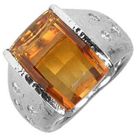 Torrini Polly Citrine And Diamonds White Gold Ring