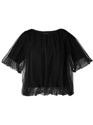 Dresscamp Boxy Sheer Layer Top Black