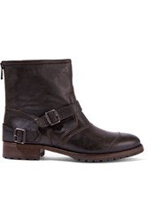 Belstaff Beddingham Leather Ankle Boots Dark Brown