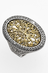 Konstantino Oval Two Tone Ring Silver Gold
