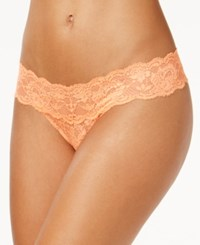 Cosabella Never Say Never Cutie Low Rise Thong Never03zlvbow Orange Glaze