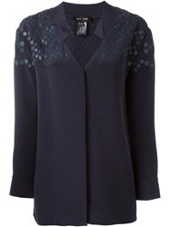 Jay Ahr Patterned Blouse Blue