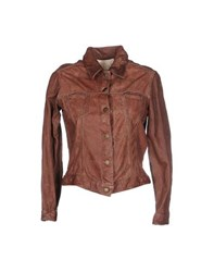 Le Cuir Perdu Coats And Jackets Jackets Women Cocoa