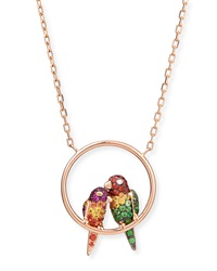 Nuri The Cockatoo 18K Rose Gold Pendant Necklace Boucheron