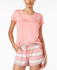 Tommy Hilfiger Short Sleeve Sleep T Shirt Pink