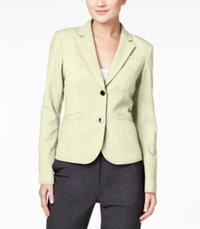 Calvin Klein Two Button Blazer Khaki
