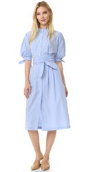 Sea Tied Shirtdress Blue