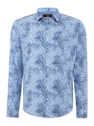 Duck And Cover Men's Niche Long Sleeve Shirt Petrol