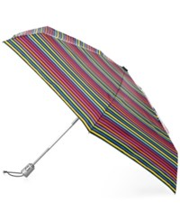 Totes Signature Auto Open Close Compact Umbrella Skinny Stripe