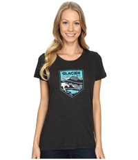 Columbia National Parks Tee Grey Heather Glacier Women's T Shirt Black