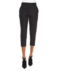 Iro Amaele Cropped Wool Pants Black Women's