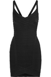 Herve Leger Bandage Mini Dress Black