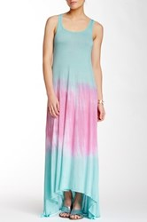 Go Couture Tie Dye Hi Low Maxi Dress Multi