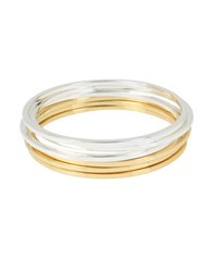Kenneth Cole Modern Essentials Two Tone Skinny Bangle Bracelet Set