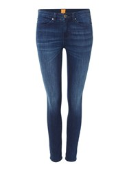 Hugo Boss Medium Wash Skinny Jeans Navy