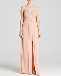 Decode 1.8 Gown Strapless Sweetheart Neck Embellished Blush
