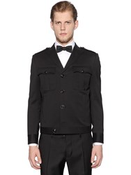 Dsquared Wool Gabardine Military Style Jacket
