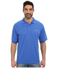 Columbia Perfect Cast Polo Vivid Blue Men's Short Sleeve Pullover