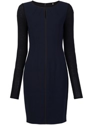 Elie Tahari Fitted Dress Blue